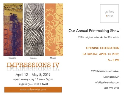 Printmaking Show at Gallery Twist